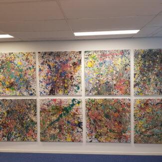 kunstwerken aan de muur